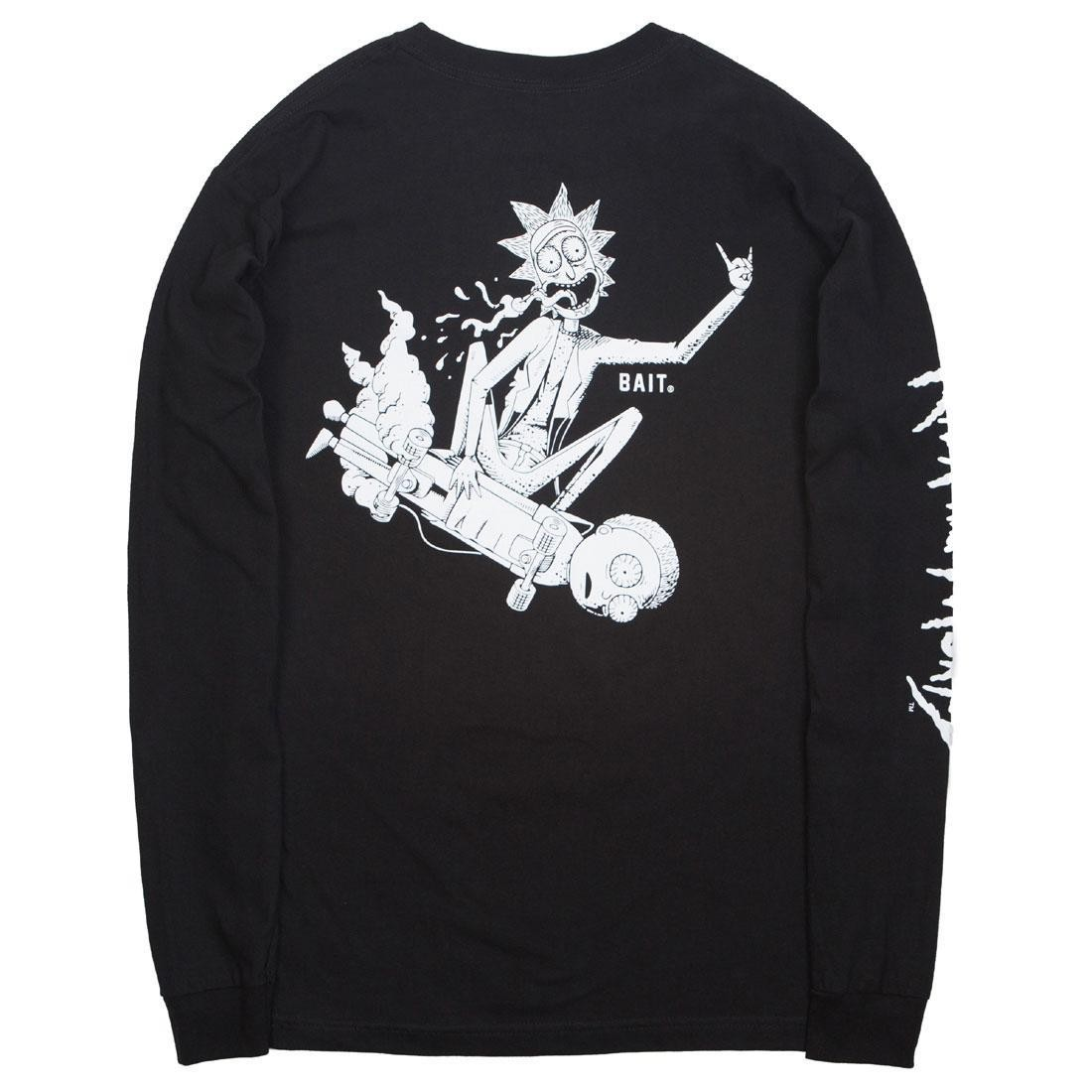 BAIT x Rick and Morty Men Skateboard Long Sleeve Tee (black)