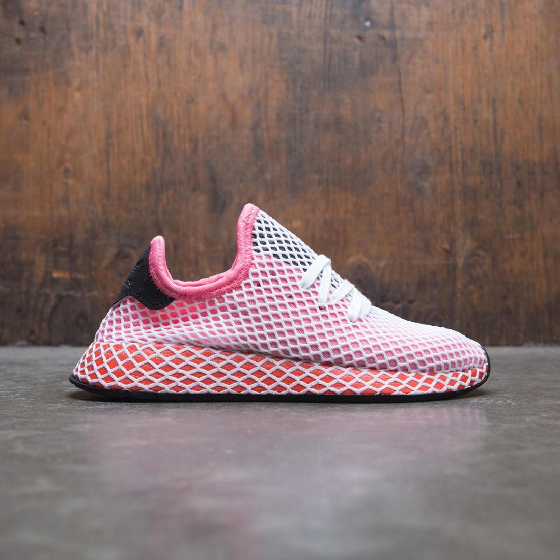 hot sale online 2510c 935fd adidas women deerupt runner w pink chalk pink bold orange