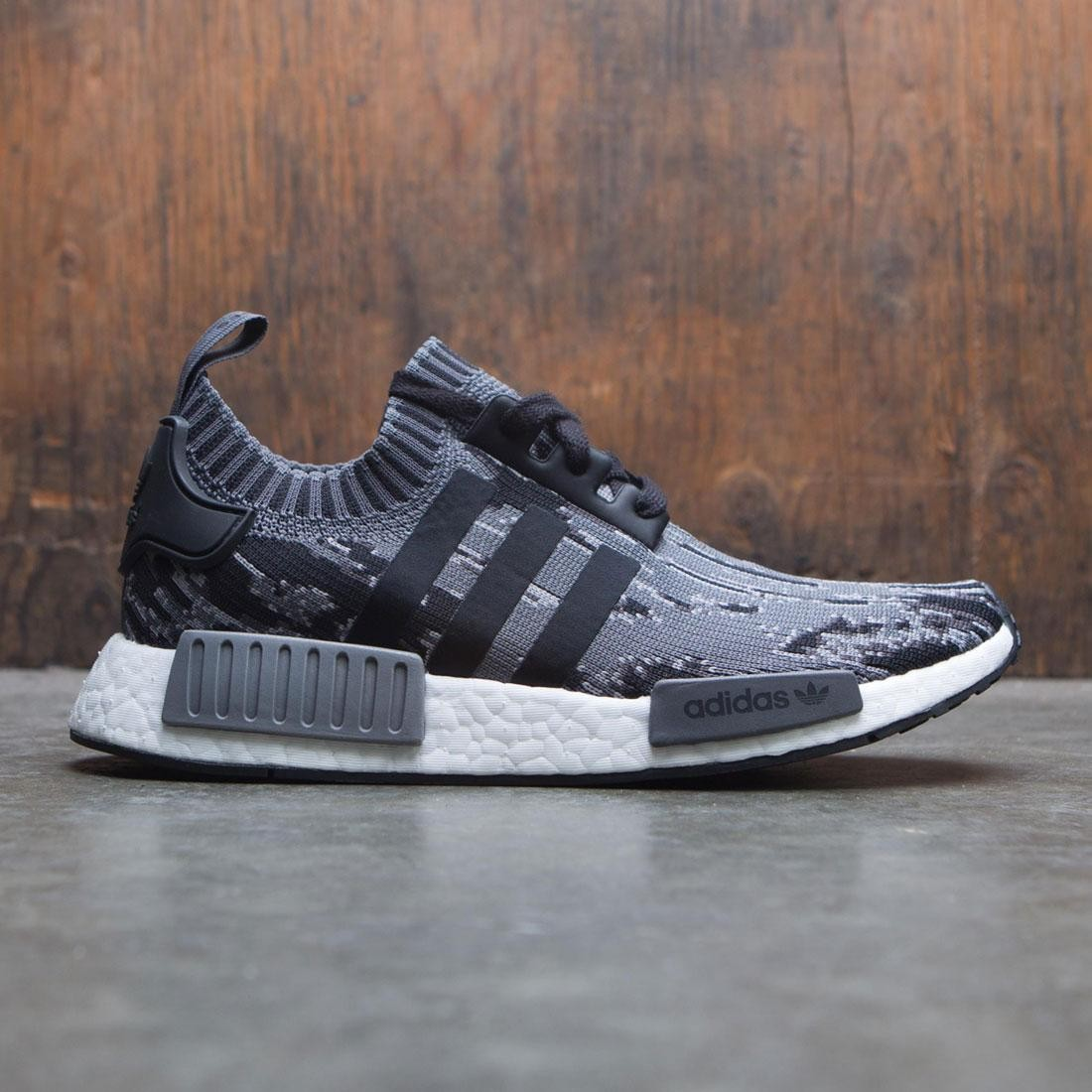 ba905d285 Adidas Men NMD R1 Primeknit black core black grey three