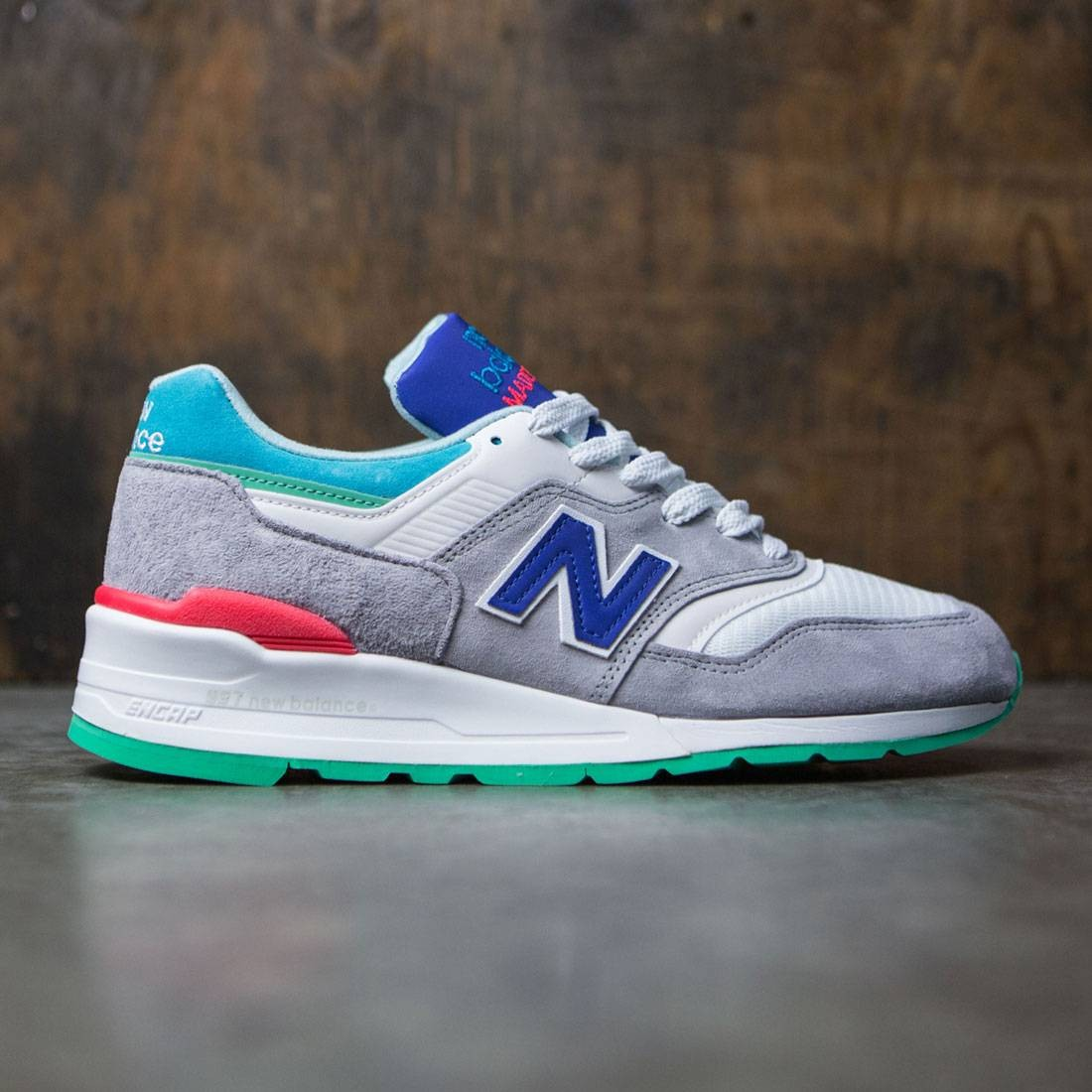 New Balance Men 997 Coumarin Pack M997CDG - Made In USA (gray / deep ozone  blue / vivid blue)
