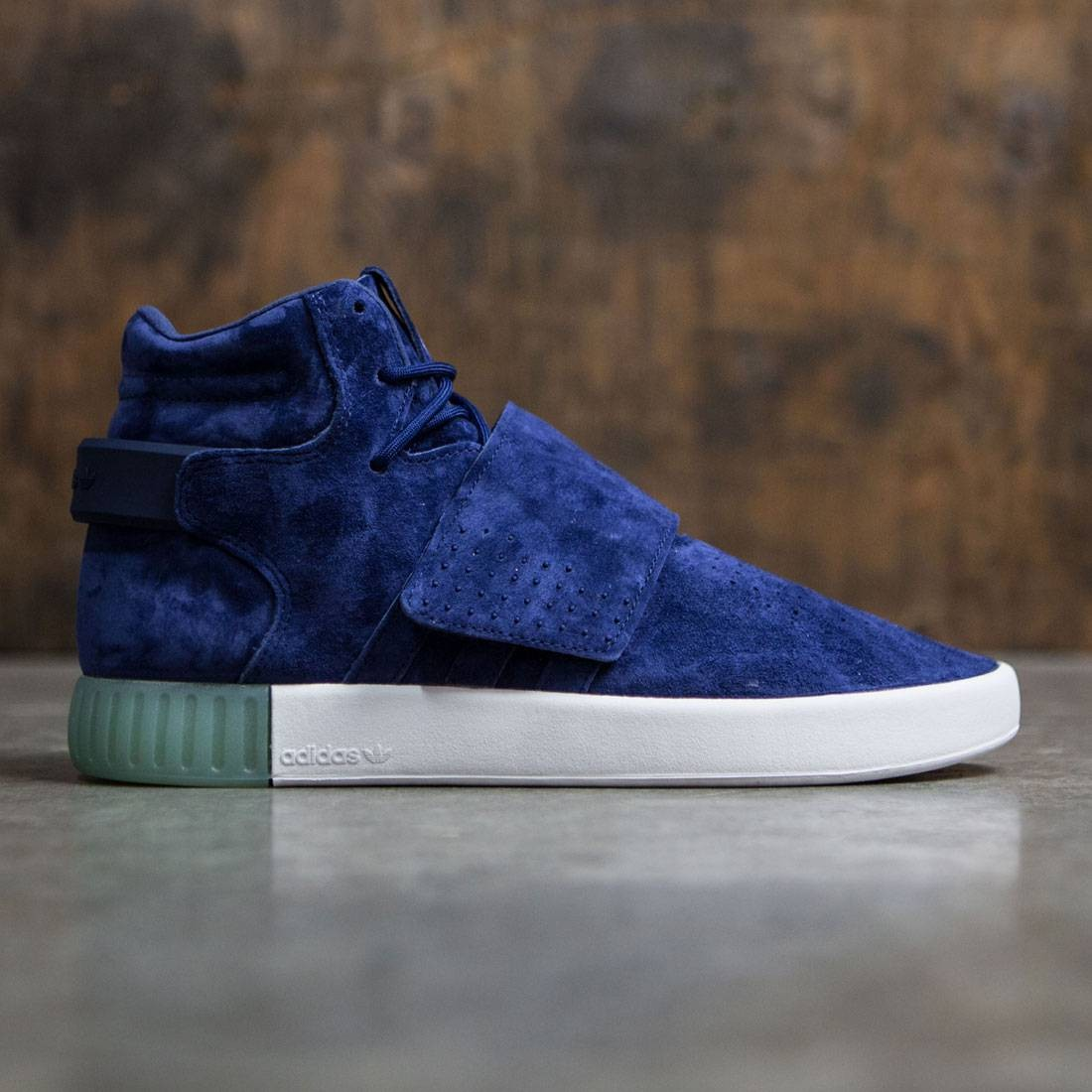Visible A tientas religión  Adidas Men Tubular Invader Strap blue dark blue clear aqua