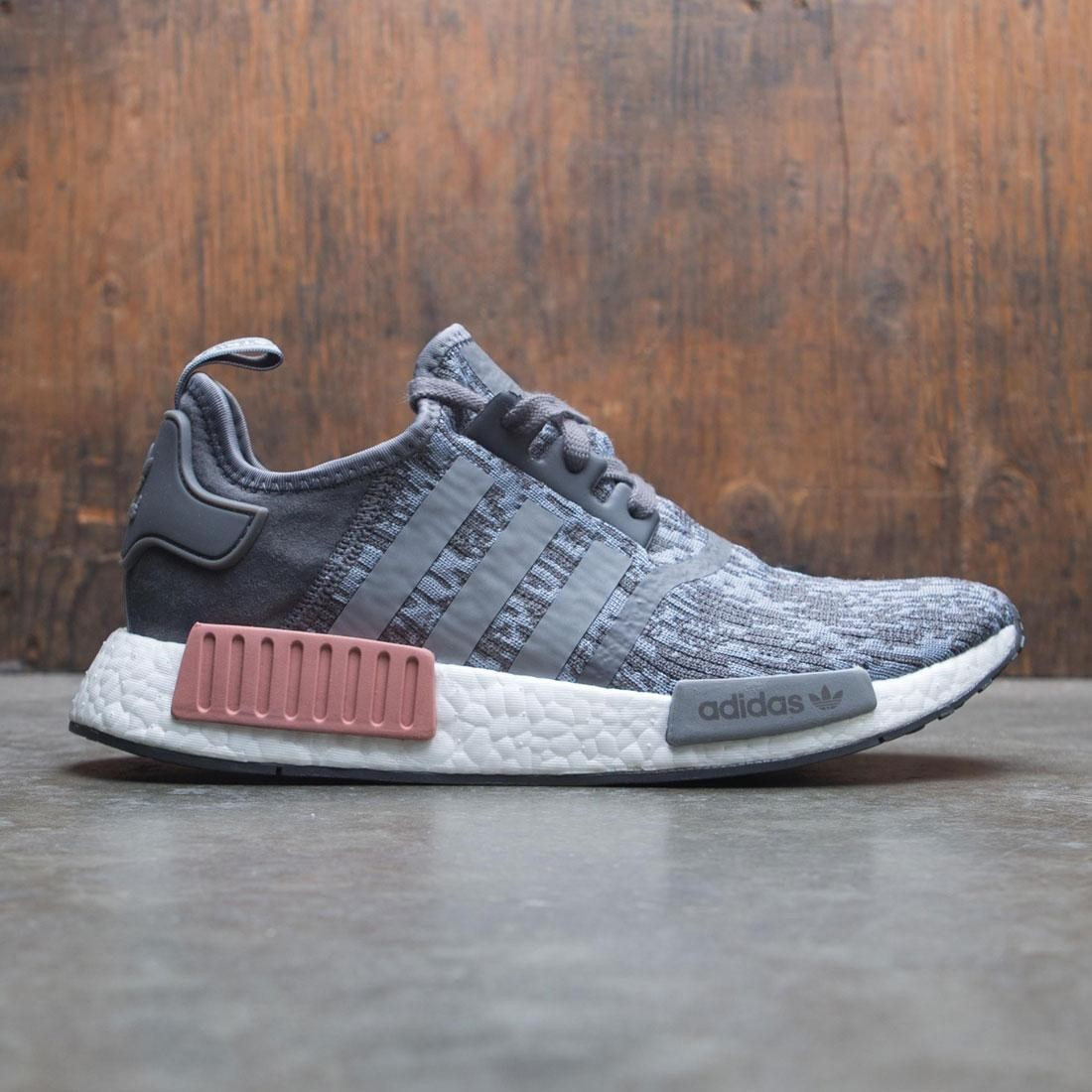 Adidas Women NMD R1 W gray grey three raw pink c57a7d15c
