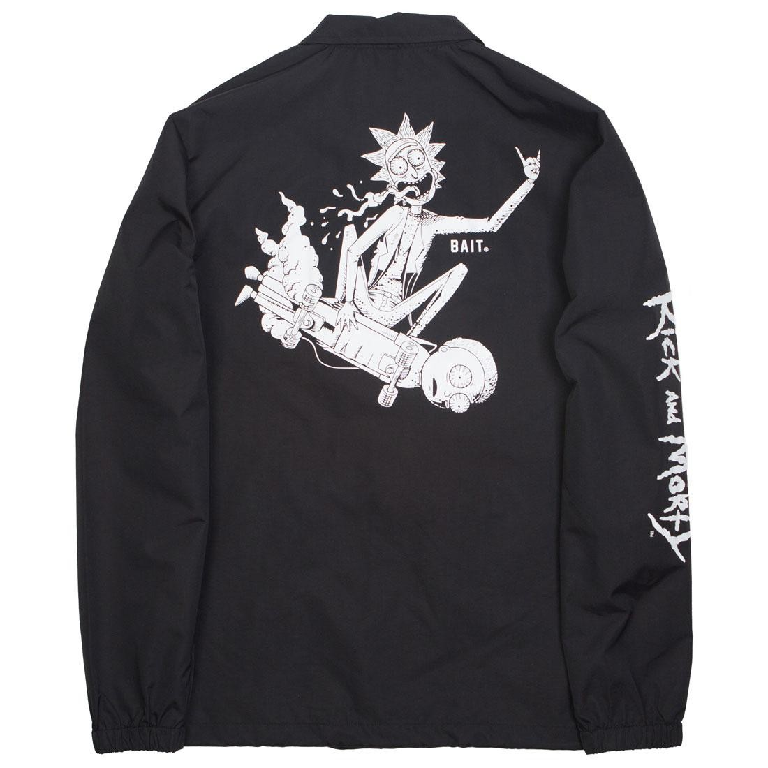 BAIT x Rick and Morty Men Skateboard Coaches Jacket (black)