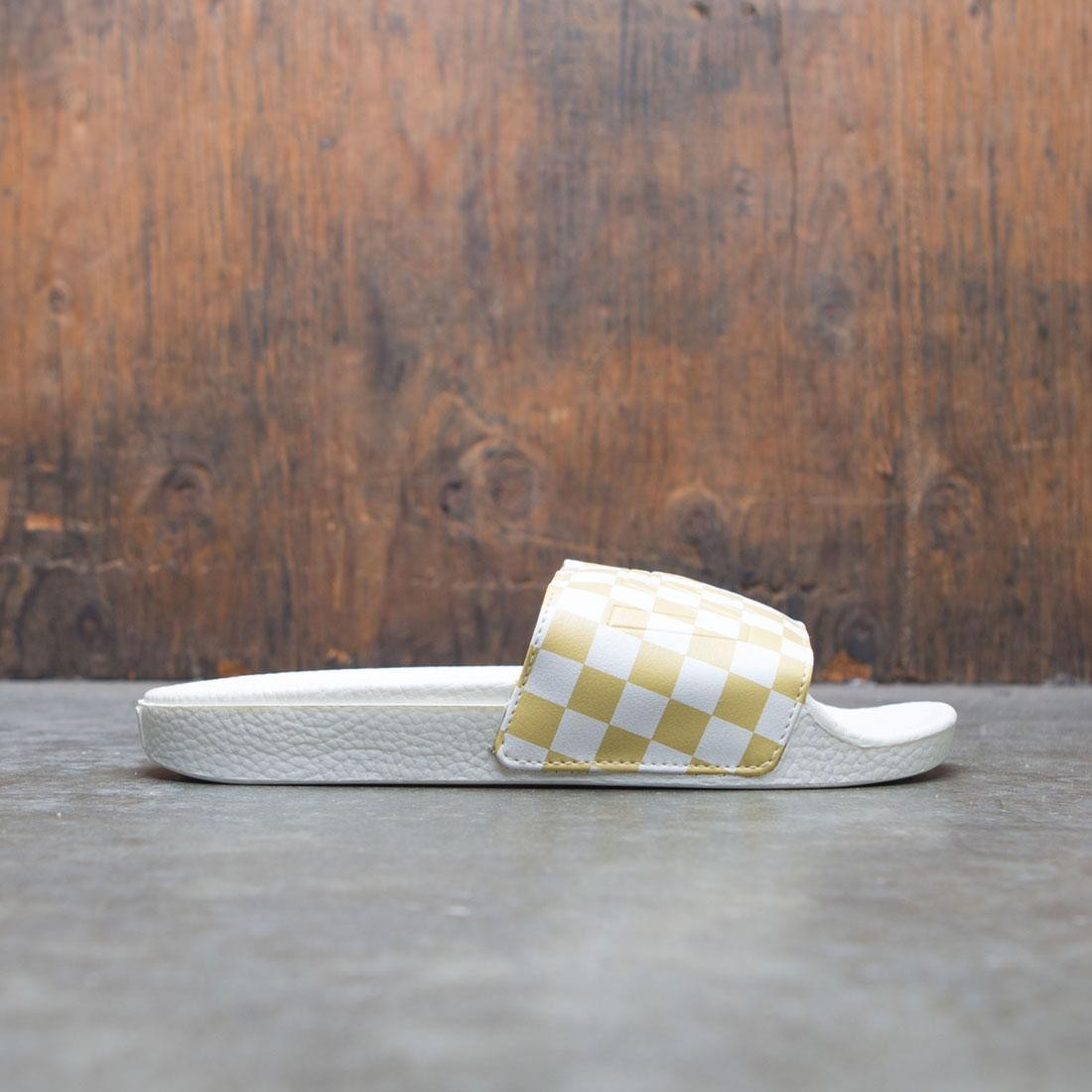 Vans Women Slide-On - Checkerboard (white / gold)