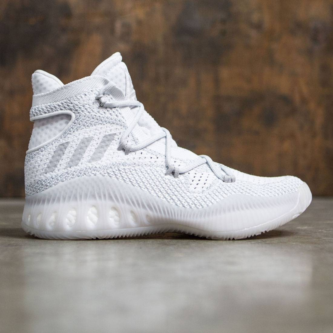 outlet store b63c2 dc48c Adidas Men Crazy Explosive Primeknit white light solid grey footwear white