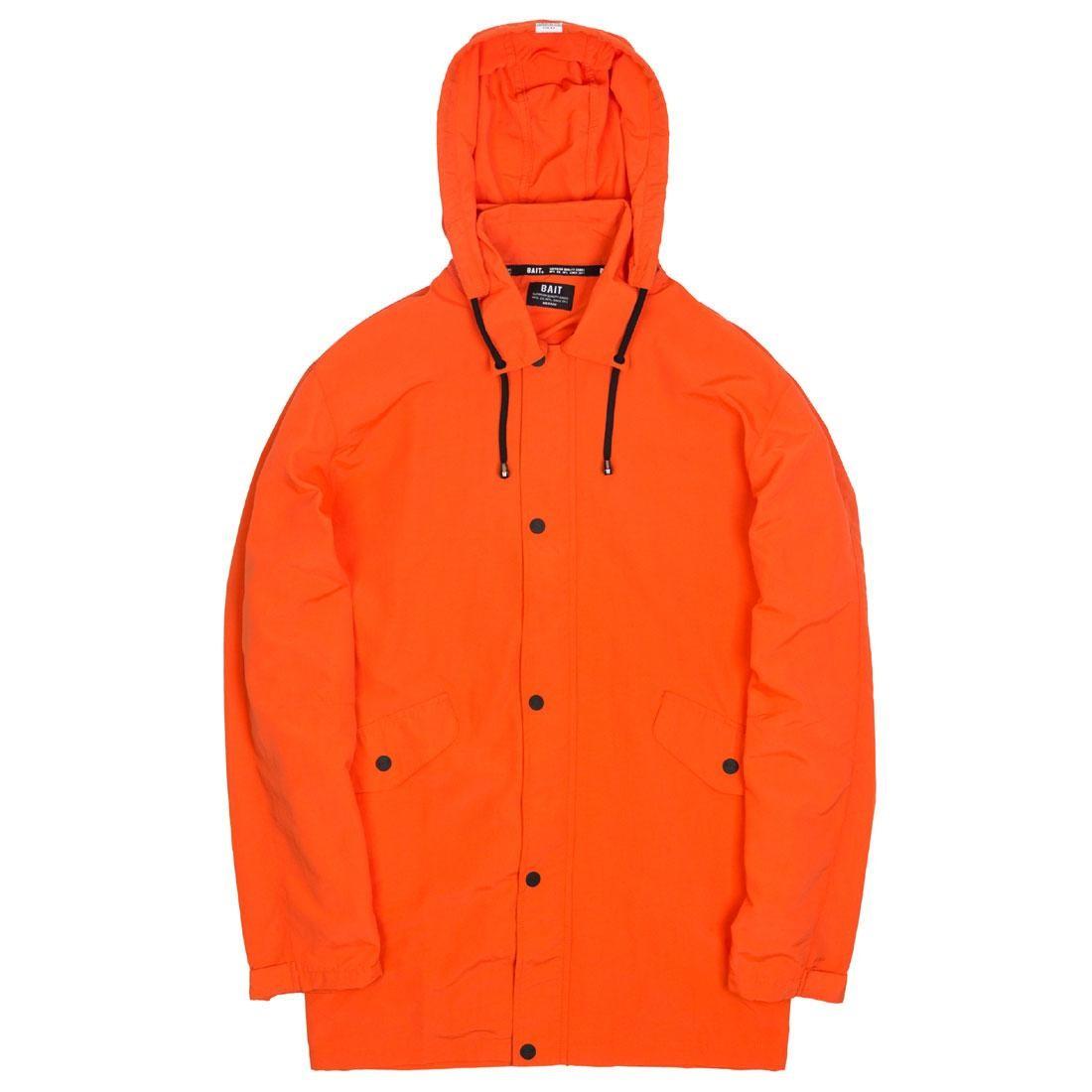BAIT Men Nylon Windbreaker Jacket (orange)