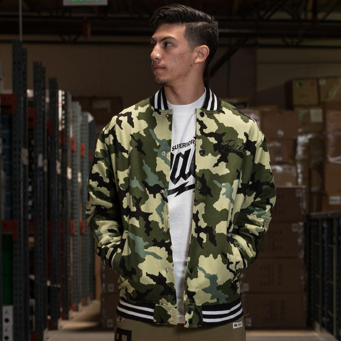BAIT Basics Baseball Jacket (camo)