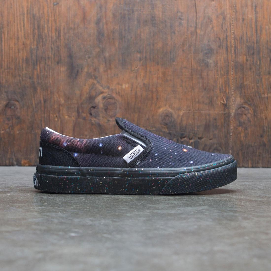 Vans Big Kids Classic Slip-On - Space Voyager (black / galaxy)