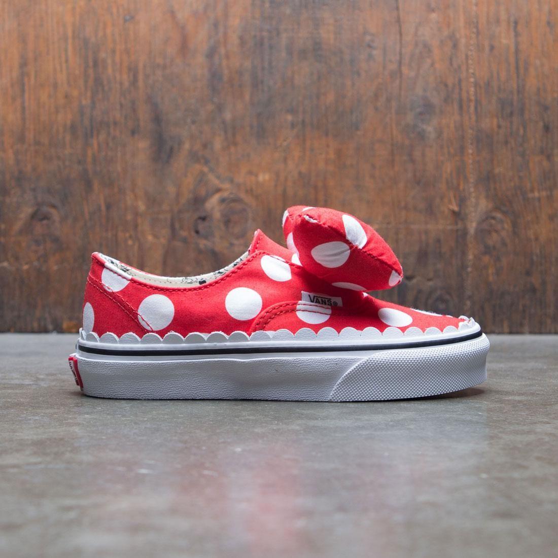 Vans x Disney Big Kids Classic Authentic Gore Minnie (red white bow)