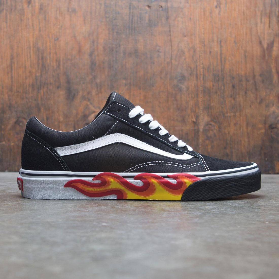 Vans Men Old Skool - Flames (black / red / flames)