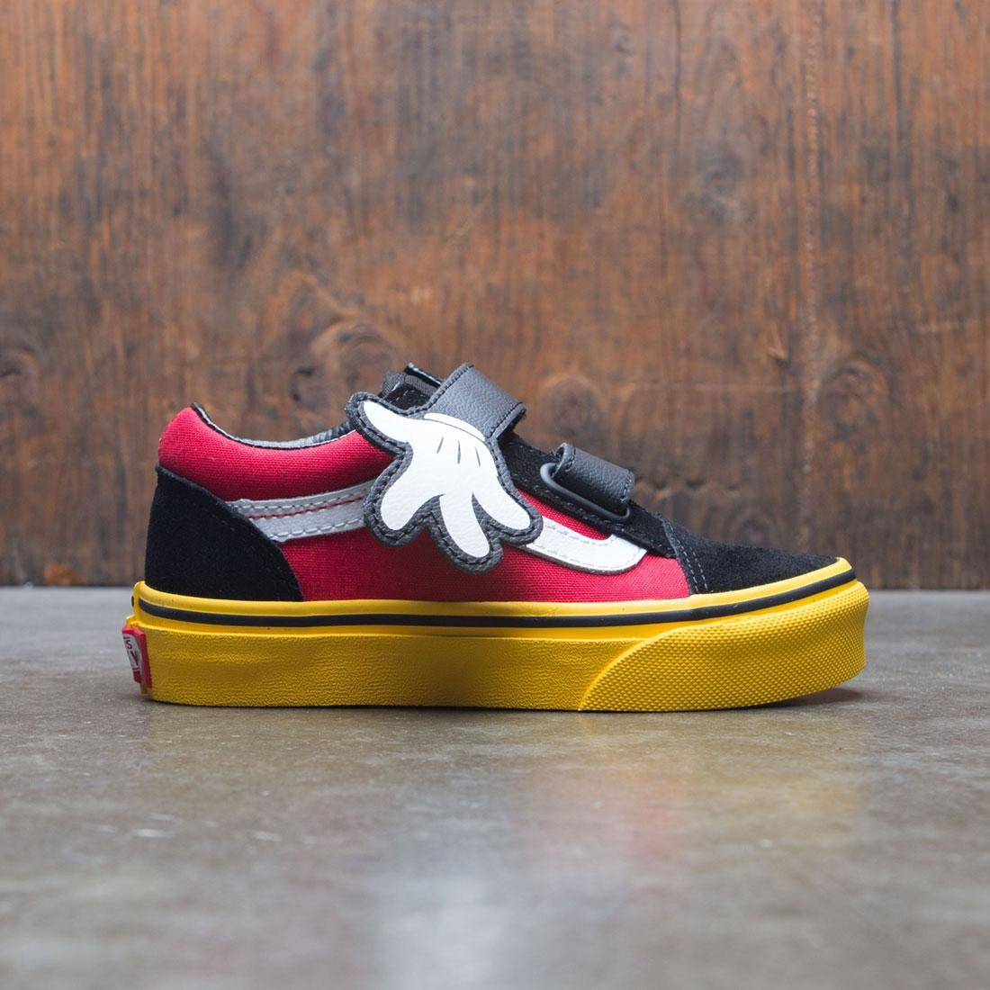 Vans x Disney Big Kids Old Skool V - Mickey (red / yellow / hug)