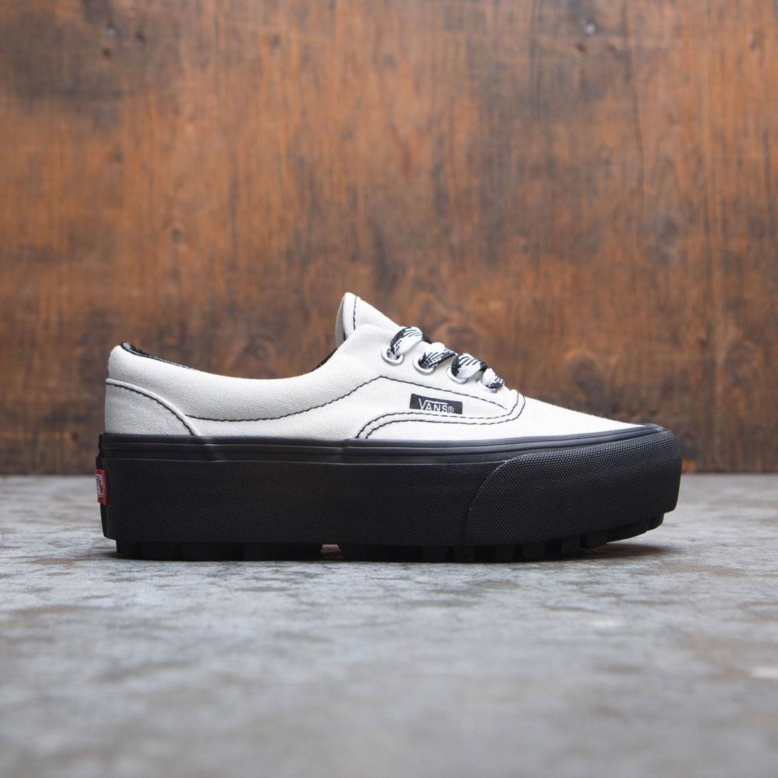 6e29308dee Vans Women Era Lug Platform - 90s Retro white black