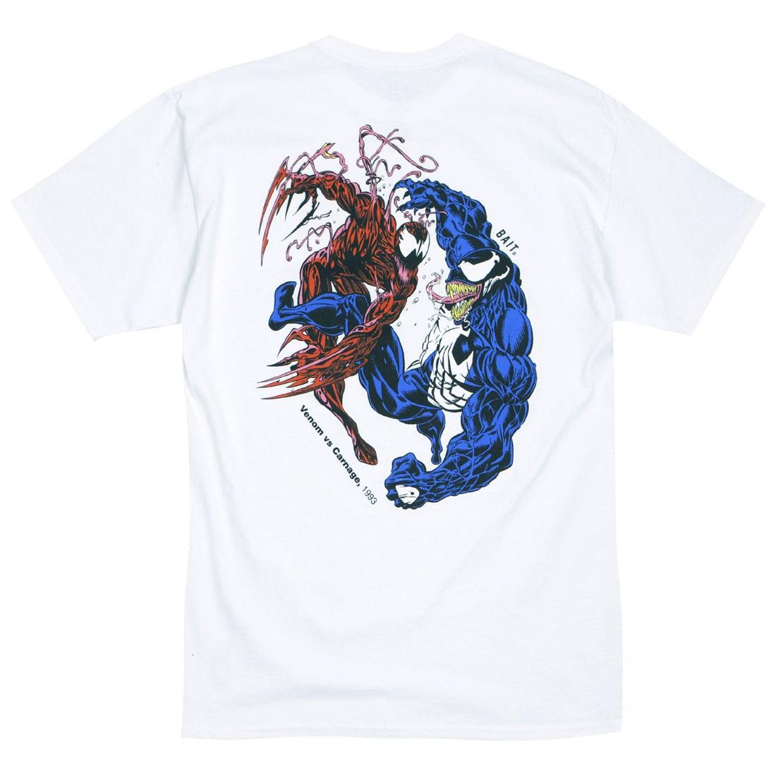 BAIT x Marvel Comics Men Carnage Vs Venom Tee (white)