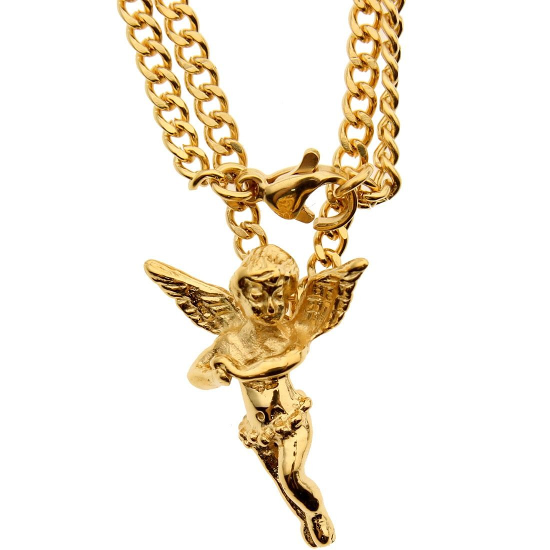 Veritas Aequitas Micro Angel Necklace (gold)
