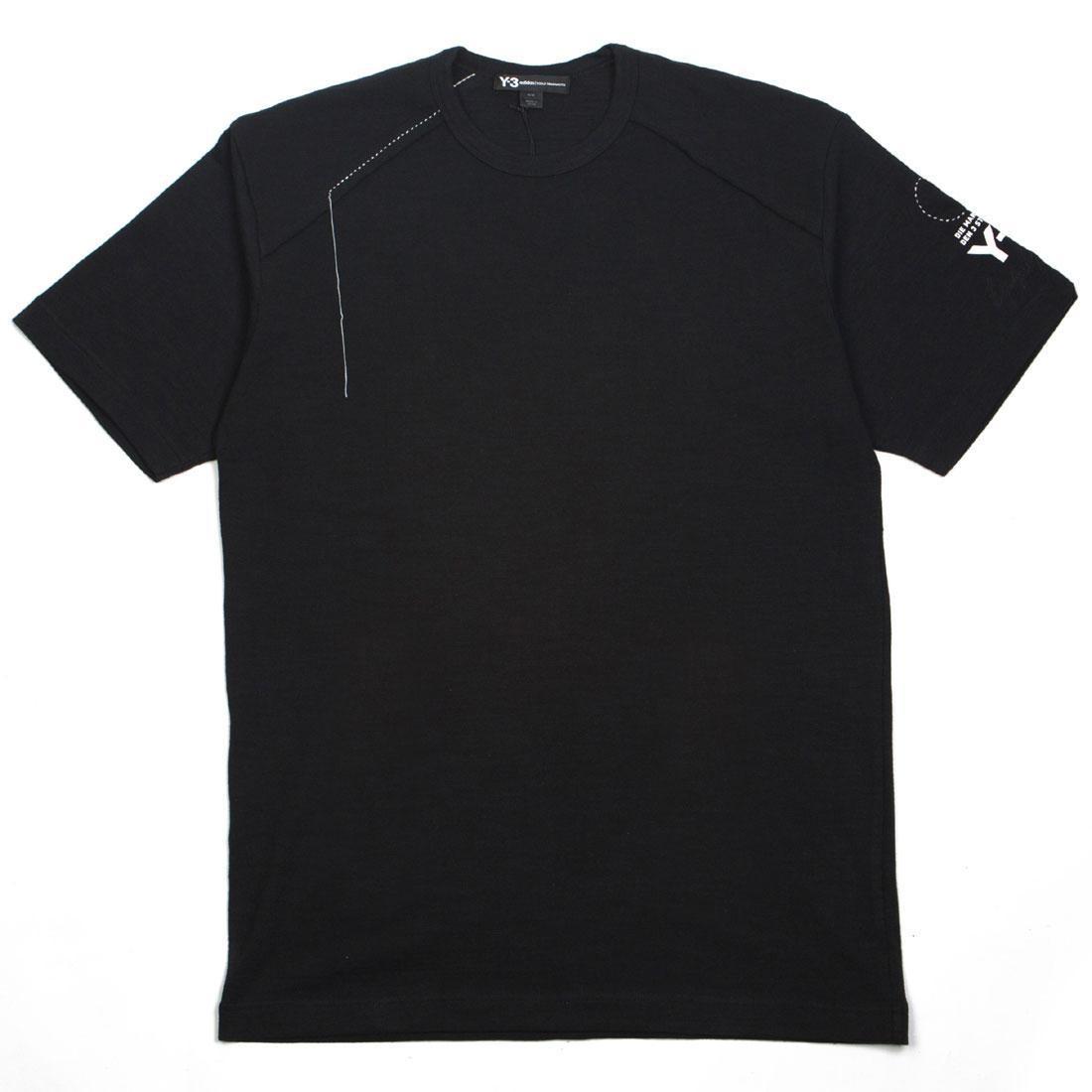 Adidas Y-3 Men Sashiko Short Sleeve Tee (black / champagne)