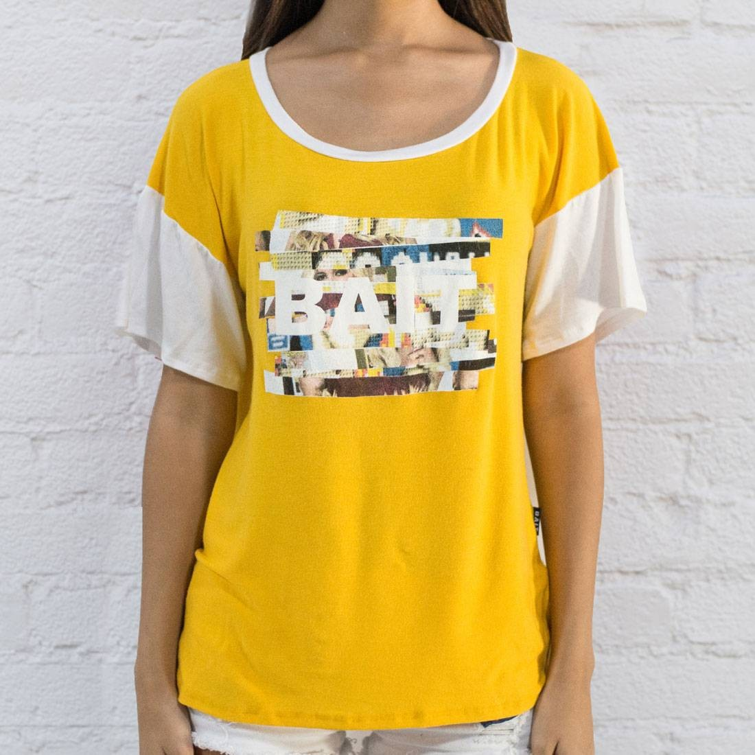 BAIT Women Shoulder Box Tee - Made In LA (yellow)