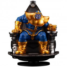 Kotobukiya Marvel Thanos On Space Throne Fine Art Statue (gold)