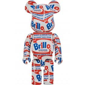 Medicom Andy Warhol Brillo 1000% Bearbrick Figure (white)