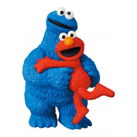 PREORDER - Medicom UDF Sesame Street Series 2 Elmo And Cookie Monster Figures (red / blue)
