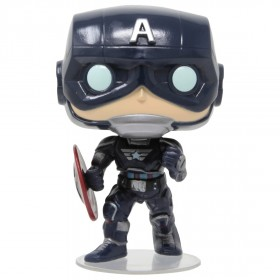 Funko POP Marvel Avengers Game - Captain America Stark Tech Suit (navy)