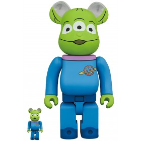 PREORDER - Medicom Disney Toy Story Alien 100% 400% Bearbrick Figure Set (blue)