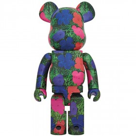 PREORDER - Medicom Andy Warhol Flowers 1000% Bearbrick Figure (green)