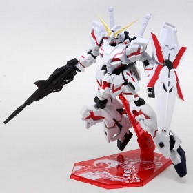 Bandai Gundam Universe RX-0 Unicorn Gundam Figure With Special Stage Stand (white)