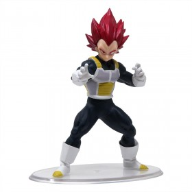 Bandai Styling Dragon Ball Vol. 6 Super Saiyan God Vegeta Figure (red)