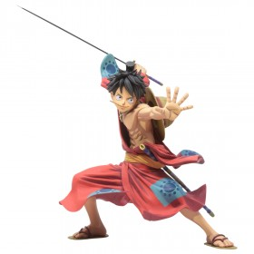 Banpresto One Piece Banpresto World Figure Colosseum 3 Super Master Stars Piece Manga Dimensions The Monkey D. Luffy Figure (red)