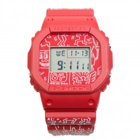G-Shock Watches x Keith Haring DW5600 (red)