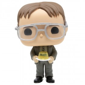 Funko POP TV The Office - Dwight With Gelatin Stapler (gray)