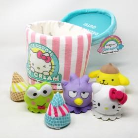 Kidrobot X Sanrio Hello Sanrio Medium Ice Cream Cute Scoops Plush (pink)