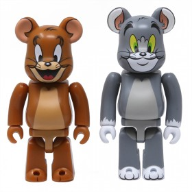 Medicom Tom And Jerry 100% 2 Pack Bearbrick Figure Set (gray / brown)