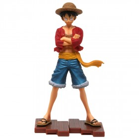 Bandai Figuarts Zero One Piece Straw Hat Luffy Figure (red)