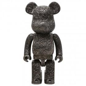 Medicom Royal Selangor Arabesque Black 400% Bearbrick Figure (black)