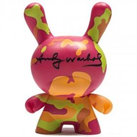 Kidrobot x Andy Warhol 8 Inch Masterpiece Camo Dunny Figure (pink)