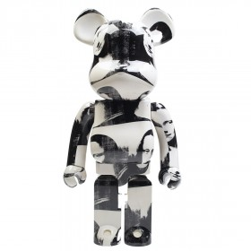Medicom Andy Warhol Double Mona Lisa 1000% Bearbrick Figure (white)