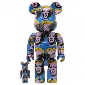 Medicom Andy Warhol Marilyn Monroe 100% 400% Bearbrick Figure Set (blue)