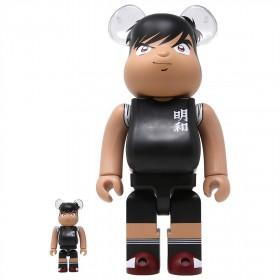Medicom Captain Tsubasa Hyuga Kojiro 100% 400% Bearbrick Figure Set (black)