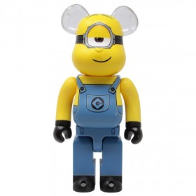 Medicom Despicable Me 3 Minion Stuart 400% Bearbrick Figure (yellow)