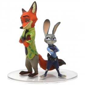 Medicom UDF Disney Series 7 Zootopia Judy Hopps And Nick Wilde Ultra Detail Figure (brown / gray)