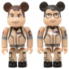 Medicom Ghostbusters Raymond Stantz And Egon Spengler 100% 2 Pack Bearbrick Figure Set (tan)