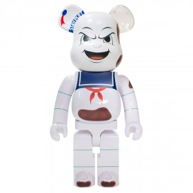 Medicom Ghostbusters Stay Puft Marshmallow Man Anger Face 1000% Bearbrick Figure (white)