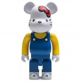 Medicom Hello Kitty Blue Overall Ver. 400% Bearbrick Figure (blue)