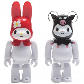 Medicom My Melody Red Ver. Rabbrick And Kuromi Bearbrick 100% Figure 2 Pack Set (white)