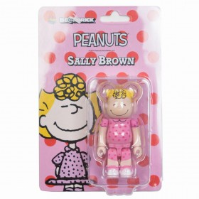 Medicom Peanuts Sally Brown 100% Bearbrick Figure (pink)