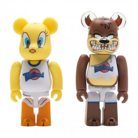 Medicom x Space Jam Tweety And Tasmanian Devil 100% 2 Pack Bearbrick Set (yellow / brown)