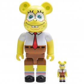 Medicom Nickelodeon SpongeBob SquarePants 100% 400% Bearbrick Figure Set (yellow)