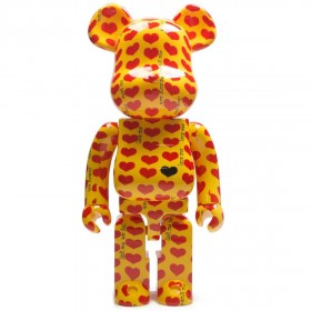 Medicom X Japan Hide Yellow Heart 1000% Bearbrick Figure (yellow)