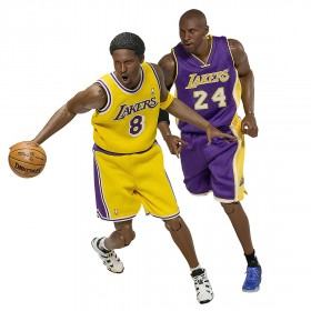 PREORDER - NBA x Enterbay Kobe Bryant 1/6 Scale 12 Inch Figure - Duo Pack New Upgraded Re-Edition (purple / gold)